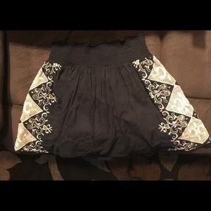 Lucky Brand Embroidered Mini Skirt